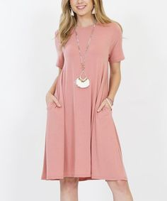 Love this Ash Rose Pocket Tunic Dress - Women & Plus on #zulily! #zulilyfinds