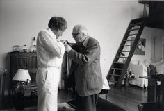 Iannis Xenakis with Olivier Messiaen.
