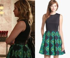 """Hanna's kaleidoscopic print combo dress from the """"Who's in the Box?"""" promotional photos is sold out but you can find..."""