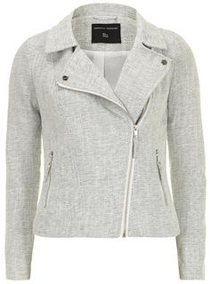 Grey Boucle Fabric Biker Jacket - View All Sale - Sale