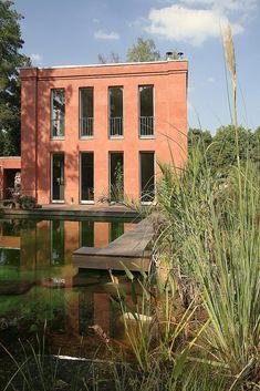Architekten Reutlingen Umgebung helles massivhaus mit flachdach vogel cg architekten berlin