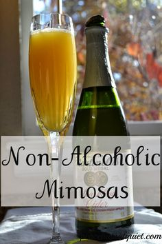 non-alcoholic mimosas or orange-apple surprise