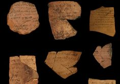 An ancient correspondence from local military personnel stationed at thefortress of Arad, located in southern Judah, dating to the latest phase of the First Temple Period in 600 BCE. Photo By: MICHAEL CORDONSKY