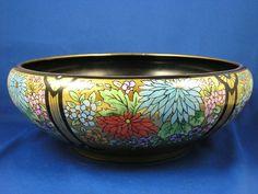 Porcelain Blank Arts & Crafts Floral Motif Centerpiece Bowl (c.1910-1930)