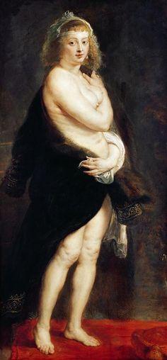 """Peter Paul Rubens - Het Pelsken, or """"Helena Fourment in a Fur Wrap"""" (1630s)"""
