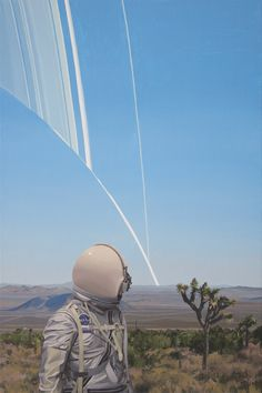 Here's yet another one from my show 'Once An Astronaut' curated by Thinkspace Gallery and showing now at the Museum of Art and History in Lancaster, California. Trippy, Wallpapers Tumblr, Iphone Android, Universe Images, Aesthetic Space, Major Tom, Wallpaper Space, Futuristic Art, Art Series