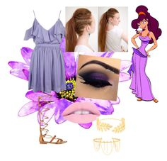 """""""Megara"""" by apineappleneko ❤ liked on Polyvore featuring Topshop, GUESS, Avigail Adam and Jules Smith"""