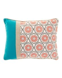 """Exclusively Ours Beatrice Embroidered Decorative Pillow 14"""" x 18"""""""