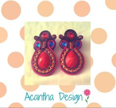 #Soutache #Hechoamano #Earrings Enamel, Accessories, Design, Fashion, Ear Studs, Handmade, Isomalt, Moda, Polish