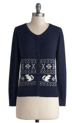 Navy Squirrel Holiday Sweater via ModCloth