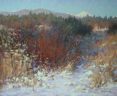 February Colors, Thing 1, Winter Painting, Art World, Impressionism, It Works, Fine Art, Landscape, Park