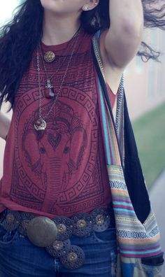 comfy bohemian style indian elephant top.