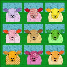 Free quilt pattern for sheep by Maartje Quilts in Amsterdam