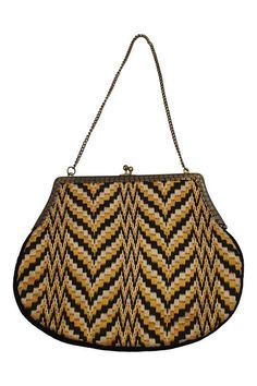 73596dfc9d21 VINTAGE 1950s Woven ZigZag Tapestry Bag (S) – The Freperie