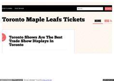 toronto-maple-leafs-tickets by Frances  H. Hammons via Slideshare