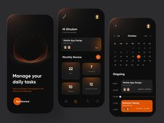 Task Management Mobile App Design by Ghulam Rasool 🚀 for Cuberto on Dribbble Mobile App Design, Ui Ux, Ui Design, Management, Phone, Workout, Fitness, Telephone, Work Out
