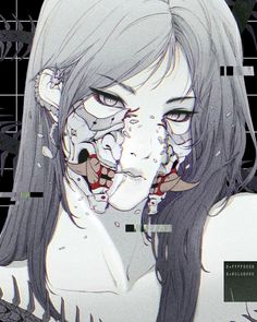 cyberware and laws of war Aesthetic Anime, Aesthetic Art, Anime Art Girl, Manga Art, Japon Illustration, Arte Cyberpunk, Vaporwave Art, Scary Art, Chef D Oeuvre