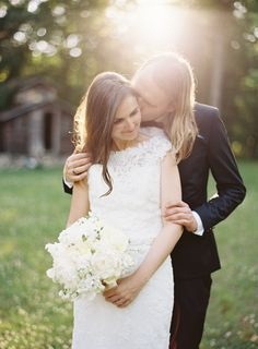simple wedding style Outdoor Rustic Polish Wedding via Once Wed Photography by Ozzy Garcia