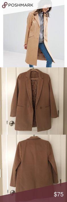 ASOS Long Beige Coat Size Small ASOS Long Beige Coat Size Small ASOS Jackets & Coats