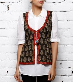 black and red cotton jacket https://www.facebook.com/nikhaarfashions