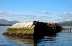 The Captayannis was a Greek sugar-carrying vessel that sank in the River Clyde in Scotland in 1974 Scotland Culture, Ghost Ship, Europe Photos, The Weather Channel, Shipwreck, Scotland Travel, Abandoned Places, Scuba Diving, Where To Go