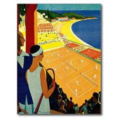 Voyage vintage, tennis, sports, Monte Carlo Monaco Carton D'invitation Cm X Cm Monte Carlo Monaco, Tournoi Tennis, Monte Carlo Tennis, Tennis Pictures, Retro Poster, Old Advertisements, Illustrations And Posters, Art Posters, Vintage Travel Posters