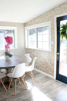DIY Brush Stroke Wall & Dining Room Makeover