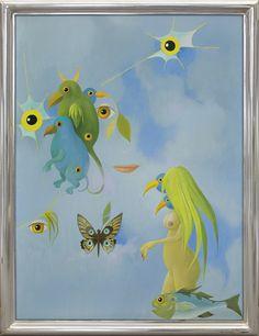 Kazimierz Mikulski | <i>WIOSENNE ZRÓWNANIE DNIA Z NOCĄ, 1986</i> | olej, płótno | 100 x 74 cm