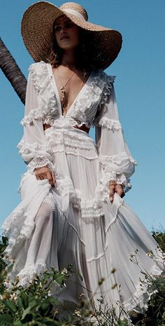 Women's Solid Color V-Neck Long Sleeve Dress – streetstyletrends sleeve lace styles lace wedding dresses dress gown style sleeves summer dresses with sleevesc Spring Dresses With Sleeves, Summer Dresses, Estilo Boho, White Fashion, Dress To Impress, Poses, Marie, Chiffon, Wedding Dresses
