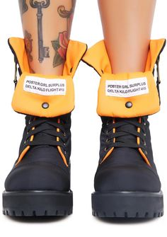 26aa1c3d98 Poster Grl Combat Flight Boots Indie Fashion