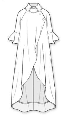 Bohemian V-neck Polka Dots Women Maxi Dress Dress Design Sketches, Fashion Design Drawings, Fashion Sketches, Fashion Drawing Dresses, Fashion Illustration Dresses, Fashion Dresses, Mode Abaya, Mode Hijab, Abaya Fashion