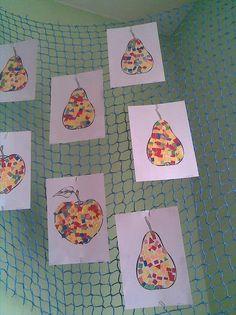 ovoce - trhaný papír Kindergarten, Autumn, Halloween, Children, Food For Children, Kid, Kunst, Young Children, Boys