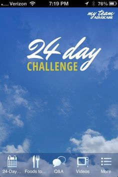 There's an app for the Advocare 24 day Challenge!! So cool!!! Change your life today!!  www.motiveeight.me/120912804