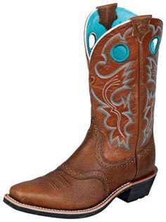 Womens Ariat Heritage Roughstock Boots Suntan #10005960 via @Allens Boots