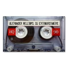 DJ Extraordinaire Cassette Tape Business Card Templates