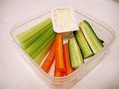 Veggie Sticks With Dip Recipe - Lunch box