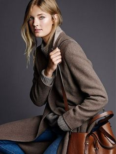 massimo dutti FW 2014-15 - this big leather bag