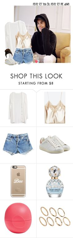 """""""Day in my house with Justin"""" by fxrever-isnt-for-everyone ❤ liked on Polyvore featuring Enchanté, Levi's, Étoile Isabel Marant, Casetify, Marc Jacobs, Eos, Pieces and JustinBieber"""