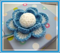 Crochet flower -gift decoration  http://www.etsy.com/shop/CraftsbySigita?ref=si_shop