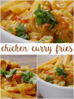 Chicken Curry Fries