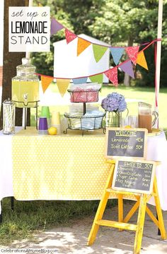 Set Up A Lemonade & Iced Coffee Stand - Celebrations at Home
