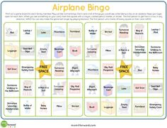 Next time you travel, pack this airplane bingo printable in your carry on. It's just one of many great travel tips to avoid the whines of bored children.