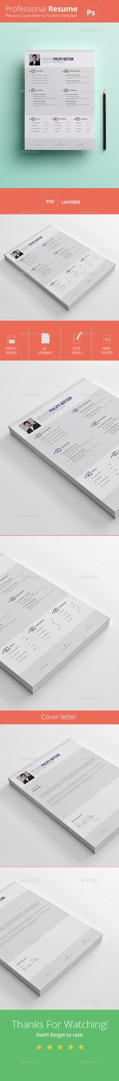 BHR Resume - #Resumes Stationery Download here   graphicriver