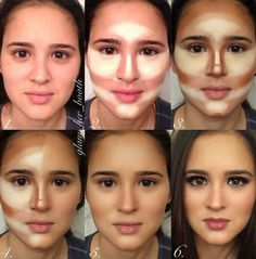 Make up tutorial for contouring and highlighting www.youniqueprodu… www.gordit… Make up tutorial for contouring and highlighting www.youniqueprodu… www. Beauty Advice, Beauty Hacks, Beauty Secrets, Tutorial Contouring, Step By Step Contouring, Eyeliner Tutorial, Eye Tutorial, Beauty Make Up, Eye Makeup Tutorials
