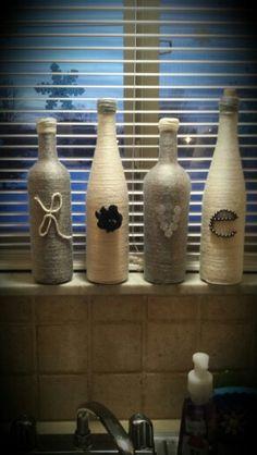 Decorated wine bottles :)