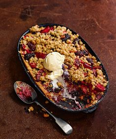 A classic british pudding with a hidden frangipane twist. Serve this autumnal recipe with a scoop of ice cream for an instant crowd pleaser.