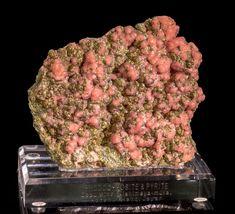 Oppu Mine Rhodochrosite & Pyrite Fine Mineral Specimen from Japan
