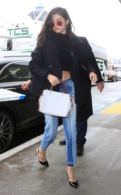Selena Gomez from The Big Picture: Today's Hot Photos The songstress heads into LAX for an outbound flight.