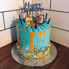 """Curly requested a """"Bluey"""" cake for his party today. I think. Blue Birthday, Dog Birthday, Third Birthday, Birthday Ideas, Birthday Parties, Birthday Cakes, Diy Cake, Cupcake Cakes, Cupcakes"""