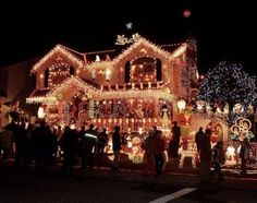 Queens,New York. best place to go look @ Christmas lights= Howard Beach Victorian Christmas Decorations, Christmas Decorations For The Home, Christmas Home, Christmas Stuff, Merry Christmas, Christmas Treats, Holiday Lights, Christmas Lights, Best Christmas Light Displays